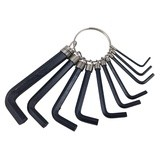 10pc Hex Key Folding Tool Set