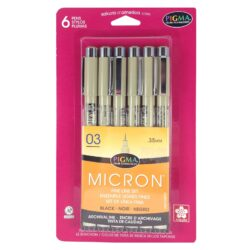 Pigma Micron Pen 6pc Set