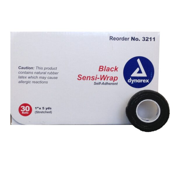 "Dynarex Sensi Wraps 1"" Black"