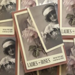 Vintage Postcards: Ladies & Roses Book